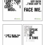 posters which raise awareness of deafness